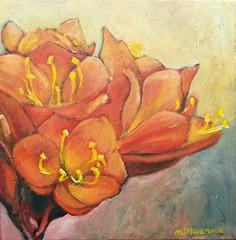 Clivias (NZbeauty) Tags: 2016 flower floral stilllife acrylics acrylicpainting nature garden  clivias