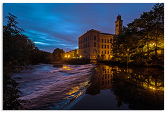 River Aire at Salts new Mill (.Wadders) Tags: saltaire saltsmill riveraire yorkshire d600 ngc nikonfxshowcase nikkor1635mmf4 dawn water