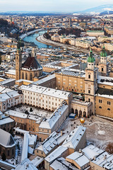 Austria, Salzburg - Old Town Winter (Nomadic Vision Photography) Tags: franciscanchurch travel viewpoint winter austria austrianwinter gettysub historic jonreid salzberg salzburg