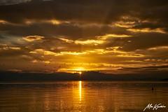 Golden sunset (Mike Kapodistrias) Tags: sea volos greece view golden outdoor sky cloud sunset serene