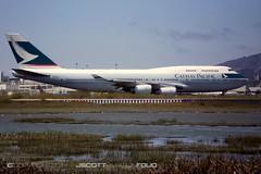 Cathay Pacific   B-HUG (j.scottsfolio) Tags: bhug cathaypacific b747 sfo jumbojet plane airplane airport taxiing runway