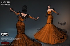 DANIELLE Roberta Halloween (Dani Plassitz ~Danielle~) Tags: formal blacklace gown frills elegance danielle sl halloween