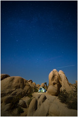 Star Gazing in Joshua Tree; missing the milky way :( (Roving Vagabond) Tags: joshua tree national park california socal ca stars tent star rocks granite outside landscape night falling long exposure rock outdoor serene sand findyourpark white take campground