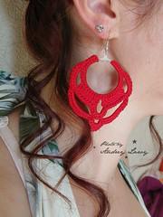 Earing (Lady Lawy) Tags: crochet earing