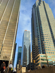towers (Ian Muttoo) Tags: img20161018083812edit gimp toronto ontario canada bayst baystreet brookfieldplace royalbankplaza trumptower cibc td torontodominioncentre tdcentre commercecourt