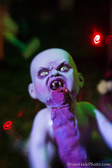 1-web-watermark (Brian M Hale) Tags: leicester ma mass massachusetts halloween decorations scary baby night lensbaby double glass doubleglass optic brian hale brianhalephoto