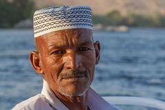Felucca Captain (Hector16) Tags: النيل dahabiyadream egyptology nile aswan sailing أسوان northafrica boat فيله النيل dahabiya egypt abuarrishqebli aswangovernorate eg