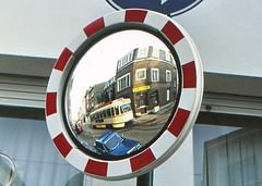 Once upon a time - Belgium - Antwerpen / Anvers (railasia) Tags: belgium flanders antwerpen anvers miva metergauge routenº12 motorcar pcc infra device trafficmirror eighties