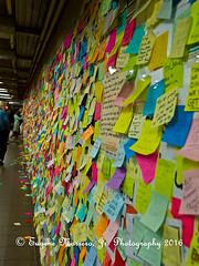 New York City (Themarrero) Tags: newyork nyc newyorkcity unionsquare subway 2016presidentialelection levee matthewleveechavez subwaytherapy postit olympus olympuse5