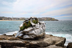 63+047: The bag (geemuses) Tags: sculpturebythesea2016 sculpture art streetphotography candidphotography rhinocerous bondi tamarama surf sea coastalwalk bondiicebergspool bondibeach water ocean sand beach thong landscape scenery scenic