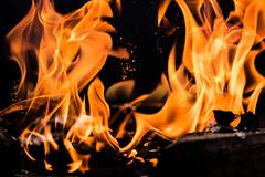 Burnt (Tide Duangjan) Tags: fire burn burnt flam light explosive explosion orange clo close up