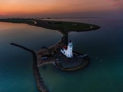 Lighthouse Sunset II (mcalma68) Tags: drone marken lighthouse seascape sunset phantom4