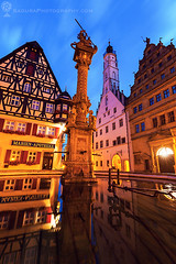 Market Square in Rothenburg (hsadura) Tags: bavaria bayern europe france germany historiccentre marketsquare rothenburg rothenburgobdertauber town townhall architecture blue building city cityhall cityscape darkness dawn downtown dusk evening illuminated landmark night oldtown outdoors panorama sky skyline square street streetlight travel urban