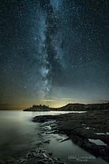 October Milky Way (Greg Lundgren Photography) Tags: milkyway night sky stars lakesuperior splitrock statepark minnesota northshore reflection rocks shoreline ellingsonisland october autumn rural