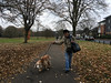 Espe and Max (jovike) Tags: animal autumn barnet dog eastbarnet espe leaf london park tree woman