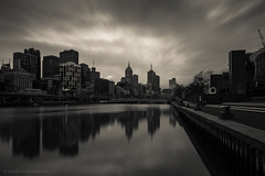 Melbourne City View (samiKoo) Tags: melbourne melbournearchitecture australia victoria city cityscape cityview urban river yarra longexposure morning buildings building sky skyline reflections reflection clouds photography photo photograph canon 6d