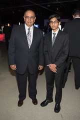 Karim Sunderji, Trustee, Ontario Science Centre and his son (The Ontario Science Centre) Tags: 2016 rbc innovators ball