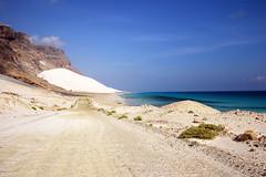 Road west (indomitablemachine) Tags: arher cliffs dunes road sand sea socotra yemen hadhramautgovernorate ye