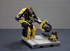 Custom Power Loader rebuilt (Faber Mandragore) Tags: lego moc scifi power loader legomech work exosuit