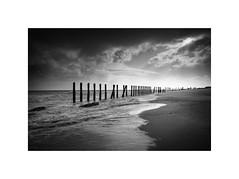 Spurn (Furious Zeppelin) Tags: ©furiouszeppelin ©fz nikon d80 spurn beach sea groynes east yorkshire black white bw coast