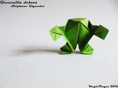 Grenouille debout (Standing Frog)  - Stéphane Gigandet (Magic Fingaz) Tags: ffrog grenouille origamifrog origami frosh жаба 青蛙 개구리 rana मेढक katak カエル กบ