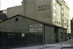 Hotel Kraft 1970 Mnchen Schillerstrasse 49 (Pacific11) Tags: mnchen munich 1970 1971 vintage alt selten bilder bayern schillerstrasse 49 behelfsbauten hotel kraft