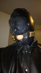 Rubberslave (heinzkeller804) Tags: latex mask gagged fetish ballgag blindfolded slave rubber bdsm