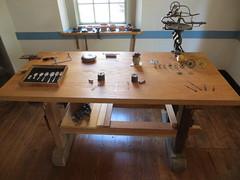 Watchmaker/silversmith tools (Joel Abroad) Tags: oldsalem northcarolina johnvogler silversmith watchmaker house workshop tools