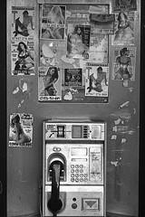 Decisions,decisions. (paul139) Tags: london nikon f5 nikonf5 film analogue phone telephone women prostitutes massage adult trix kodak kodaktrix rodinal street streetphotography