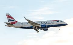 British Airways G-LCYG Embraer 170 (Anne Ullmann) Tags: landung ankunft arrival approach approaching embraer170 embraer 170 plane jet airplane airport flugzeug flughafen british britishairways