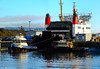 Scotland Greenock car ferry Argyle being towed out of dry dock 18 November 2016 by Anne MacKay (Anne MacKay images of interest & wonder) Tags: scotland greenock caledonian macbrayne car ferry argyle ship tug tugs dry dock xs1 18 november 2016 picture by anne mackay