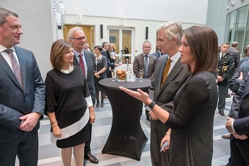 Visite royale au Parlement de la Fédération Wallonie Bruxelles