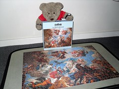 A bit of kulture fer yew all... (pefkosmad) Tags: jigsaw puzzle leisure hobby pastime 750pieces complete blenheimpalace souvenir ceiling oxfordshire oxon england uk tedricstudmuffin ted teddy bear cute cuddly stuffed soft toy fluffy plush art painting people classical