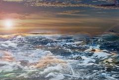 sea under sunset (♣Cleide@.♣) Tags: © ♣cleide♣ brazil photo art digital abstraction ps6 texture ocean waves sky beach holidays artdigital exotic netartii sotn awardtree 2017