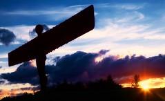 sundown (khrawlings) Tags: angelofthenorth antonygormley sunset sculpture sky evening silhouette gateshead cloud purple