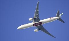 A6-ENY Boeing 777-31H United Arab Emirates (IAN GARDNER PHOTOGRAPHY) Tags: inflight birmingham flight boeing boeing777 emiratesairlines iangardner