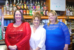 Bartenders Donna Miller, Rhonda Montgomery and Tammy Gilley