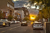 HDR sunset in downtown Albuquerque (Vironevaeh) Tags: road city sunset urban newmexico us route66 downtown unitedstates albuquerque abq photomerge hdr highdynamicrange centralavenue rosenwaldbuilding