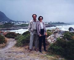francois_kelly_hermanus03 fran nico (fjordaan) Tags: hermanus southafrica fran 1999 scanned sa nico