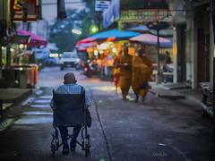 Klong Chandi, Nakornsrithammarat, Thailand (nimus) Tags: thailand monk buddhistmonk olympus75mmf18