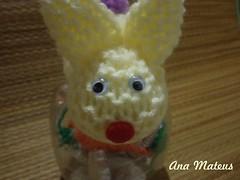 Coelho de crochê (analuciamateus) Tags: pet chocolate artesanato coelho garrafa pascoa cenoura crochê