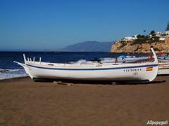 Jábega - Barcas en Rincón de la Victoria (Málaga) - Boats in Rincón de la Victoria (Malaga) (ASpepeguti) Tags: españa boat andalucía spain olympus andalucia costadelsol andalusia barcas malaga málaga alandalus rincóndelavictoria axarquía zd1454mm e620 phtomaticpro50