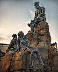 Steinbeck Monument (emptyseas) Tags: ocean california plaza usa monument rock john monterey flora nikon pacific flood row dora steven author steinbeck cannery whyte d800 emptyseas woodsadams 18761948