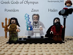 Poseidon, Zeus and Hades (Random_Panda) Tags: greek lego fig olympus figure gods minifig figures mythology myth figs greeks minifigure minifigures
