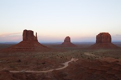 Day 53. Sunset at Monument Valley (betsyreynolds) Tags: sunset arizona usa southwest canon landscape utah roadtrip monumentvalley naturephotography buttes navajonation themittens project365 merrickbutte canon6d