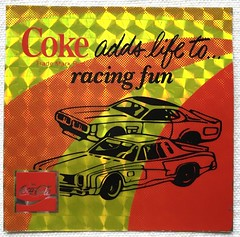 Coca Cola Sticker (1960s) (Christian Montone) Tags: cards stickers cocacola 1960s vintagestickers tracingcards advertisingstickers