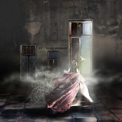 When a door is closed many windows are opened... (Silvia Andreasi (Images Beyond Mirror)) Tags: light woman bird texture window misty photomanipulation hope whimsy ruins dove surrealism digitalart surreal skirt fabric fantasy ethereal imagination mystical mystic whimsical dreamscape symbolism storytelling fineartphotography outcome conceptualphotography mistiness whimsicalphotography imagesbeyondmirror silviaandreasi