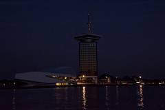 A'DAM Tower (jopperbok) Tags: city light building adam eye tower film water netherlands dutch amsterdam museum architecture night buildings dark lights restaurant harbor arthur shell institute ijmeer staal houthaven delugan fomer overhoeks jopperbok