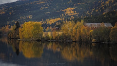 No. 1022 Autumn in Norway (H-L-Andersen) Tags: mountain lake mountains fall water colors norway reflections farming automn fjord serene scandinavia tranquile 6d reflektions ef24105mmf4 randsfjord canoneos6d hlandersen