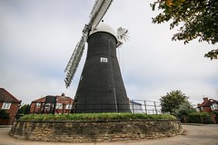 Holgate Windmill, September 2015 - 1 (nican45) Tags: york slr mill windmill canon yorkshire roundabout sails sigma wideangle september cap sail dslr 1020mm 1020 holgate fantail 2015 hwps 1020mmf456exdc holgatewindmill eos70d 27092015